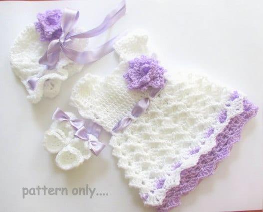Baby crochet patterns infant dress pattern baby dress hat
