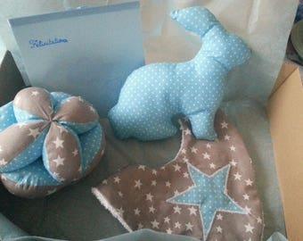 blue baby boy gift set