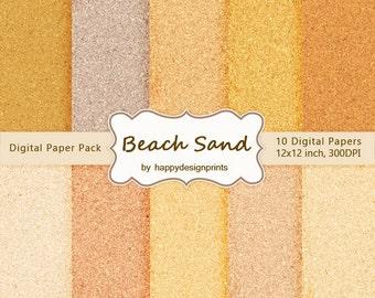 "SALE! Beach Sand Digital Paper Pack of 10, 300 dpi, 12""x12"" Instant Download Pattern Paper Scrapbooking, Invites, Cards JPG"