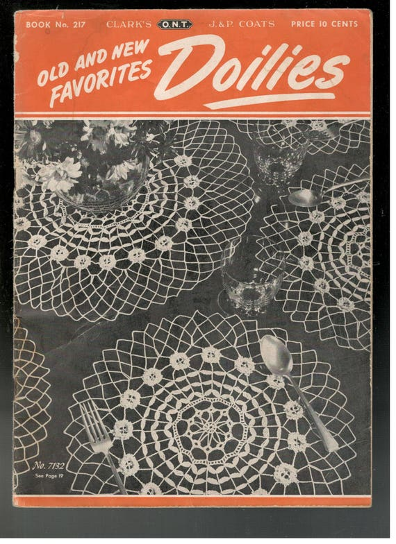 Vintage 1940s Doily Patterns Book Old And New Favorites Crochet