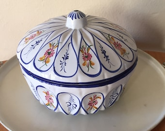 Hand Painted Casserole Made In Portugal
