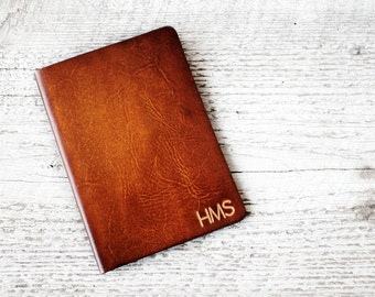 Personalized Passport Covers, Genuine Leather Passport Holder with Personalized Initials, Leather Travel Wallet, Wanderlust, Travel Gift