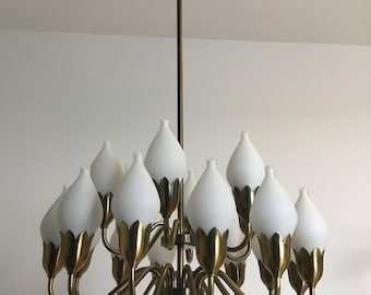 Very Rare large Chandelier Fog&Morup 60s