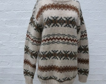 Sweater fall wool jumper chunky winter sweater 1980s clothing vintage jumper chunky pullover wool sweater chunky clothes fall jumper winter.