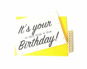 Funny birthday card-long distance birthday card-belated birthday card-card for girlfriend-BFF card-boyfriend birthday