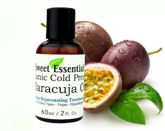 100% Pure Organic Cold Pressed Maracuja Oil - Imported From Brazil - Various Sizes - Free Shipping