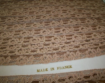 Antique lace by the yard or roll alencon lace French two-tone 1920 yardage pure cotton