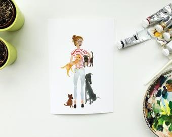 Dog owner, Dog illustration, Dog painting, dog present, Dog gift, Dog picture, Dog present, Dog love, Dog lover, Dog sketch, Dog art, dog,