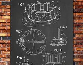 Vertical Wind Turbine Patent Print Art 1977