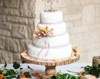 Fall Tree Wedding Cake Topper Fall Wedding Custom Wire Tree Sculpture Autumn Colors