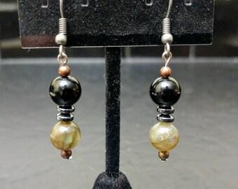 Labradorite Gleaming Crystal Dangle Earrings w/ Nickel-Free Hooks // Sleek and Bright // Simple and Elegant // Charming and Fun