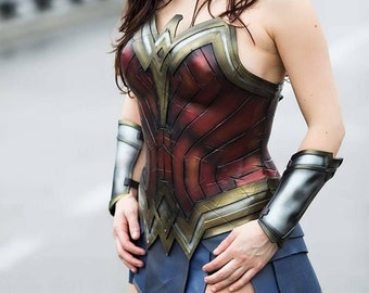 Wonder woman cosplay ispired costume  corset and skirt (made to order)