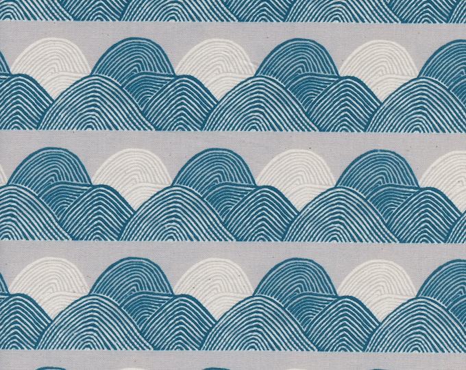 PRESALE:Headlands in Moonlight (cotton) from Imagined Landscapes by Jen Hewett for Cotton + Steel