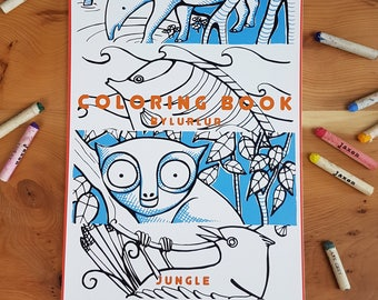 Coloring book jungle