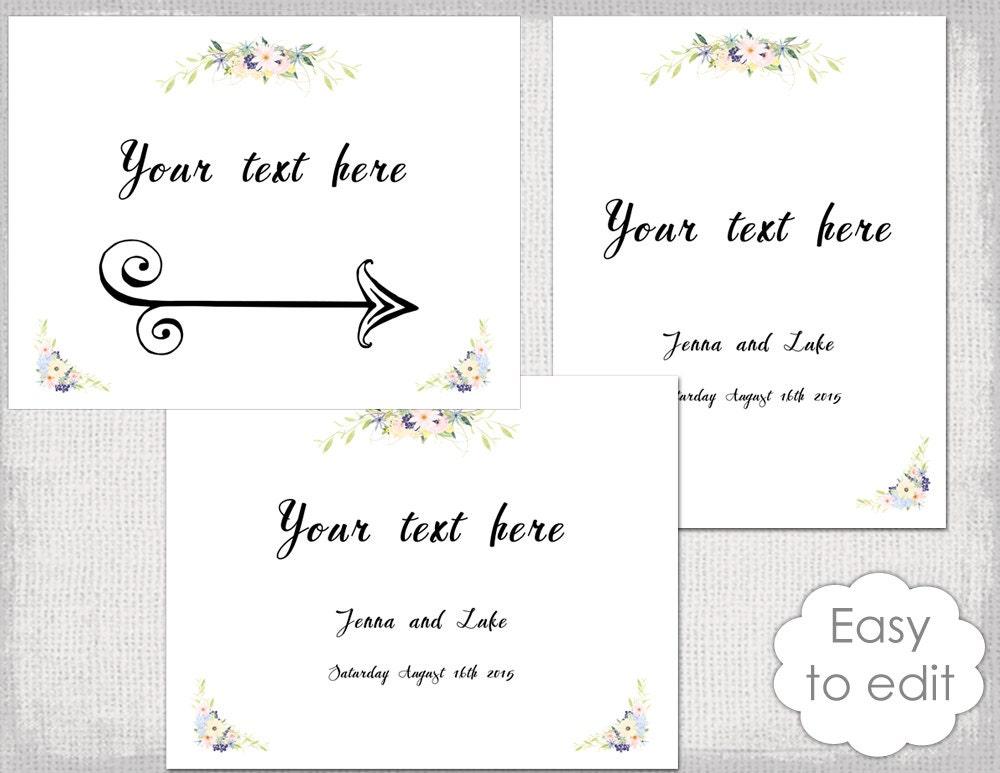 wedding sign templates