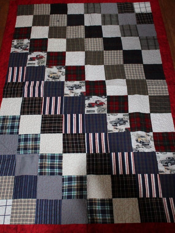 Memory Quilt From Clothing Of A Loved One Remembrance Quilt