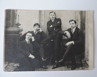 Original Vintage Photo, 1930s Photo, Vintage Photo of the 1930s, Old Photos, Antique Photos, Gentlemen, People in the 20th Century