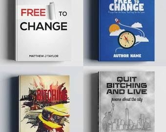 Custom book cover design / custom ebook cover / custom kindle cover / custom cover design for print + matching back cover + spine design