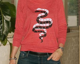 partner in crime Snake Shirt, Yoga Pullover, S,M,L,XL