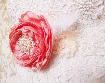 Wedding belt sash, floral sash belt, baby shower belt sash, pregnancy belt sash, bridal belt and sash, maternity sash, sequin, ivory, pearl,