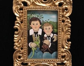 Paleontology Brothers- Miniature Acrylic Painting