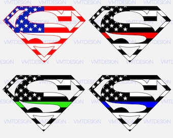 Superman flag american svg - Superman flag american digital clipart for Design or more, file download svg, png, eps, jpg