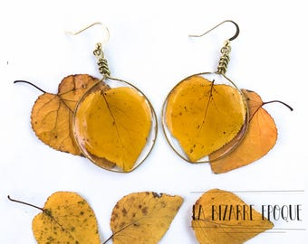 Pendant earrings with Vera Albiccocco-botanical jewellery-jewellery for women who love nature