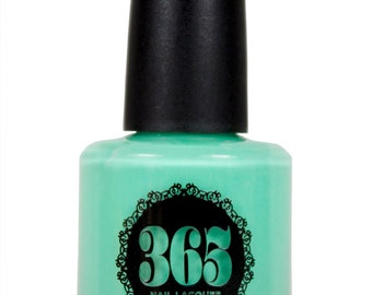 Neon Mint Green Nail Polish - Corsica
