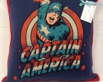 Captain America T-shirt Pillow