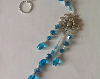 Hanging turquoise crystal sun catcher light catcher hanging crystals sparkly crystals window decoration home decor