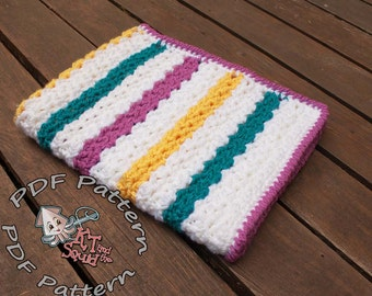 Easy Crochet afghan pattern, baby blanket pattern, crochet throw patten, easy baby blanket pattern, crochet pattern permission to sell