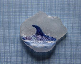 Sea Glass Orca Keepsake