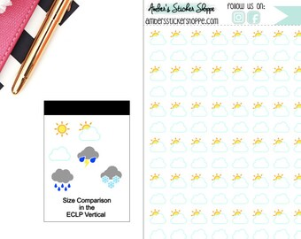 Cloudy Partly Cloudy Cloud Weather Planner Stickers