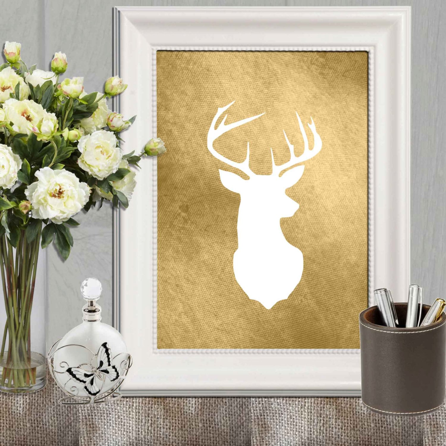 Best White Stag Head Wall Decor Images - The Wall Art Decorations ...