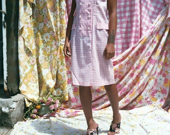 Pink Gingham Day Dress