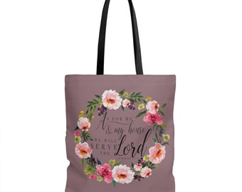 Bible Study Tote Bag / Scripture Tote Bag  Bible Verse Tote  Fullness Of Joy Tote  Christian Gift  Women Gift