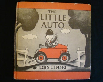 The Little Auto Lois Lenski Vintage Children's Book Hardback 1951