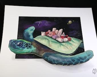 Celestial Sea Turtle Print