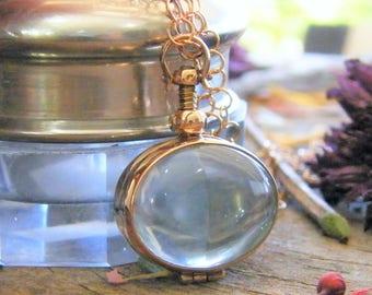rose gold oval memory glass locket photo locket heirloom keepsake necklace 14 karat rose gold fill