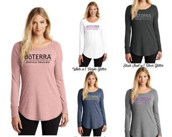 DoTerra Long Sleeve Shirt, DoTerra Curved Hem Shirt, DoTerra Shirt, Long Sleeve, Shirt, DoTerra