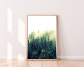 Forest wall art, Forest print, Forest photography, Forest Art, Forest poster, Woodland Prints, Nature Prints, Forest printable, Digital