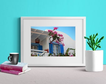 Island House Wall Art, Beach House Decor, Modern Decor, Photography, Summer, Printable Art, Digital File, Colourful Decor