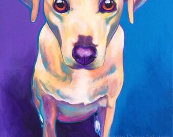 Pet Portrait, DawgArt, Dog Art, Pet Portrait Artist, Colorful Pet Portrait, Labrador, Terrier, Mix, Pet Portrait Painting, Art Prints