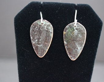Copper Earrings with Patina (061318-014)