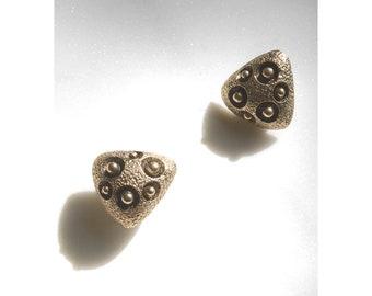 Brutalist Earrings / 70s Earrings / Modernist Earrings / Golden Orb Earrings