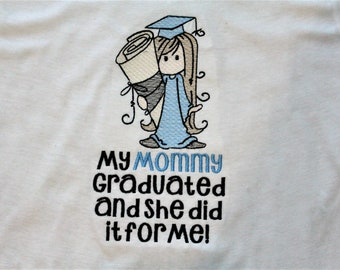 College graduation, Mother's Day, gift for mom, girls t shirt, graduation, baby clothes, graduation cap, Mommy, bodysuit, t shirt, tshirt,