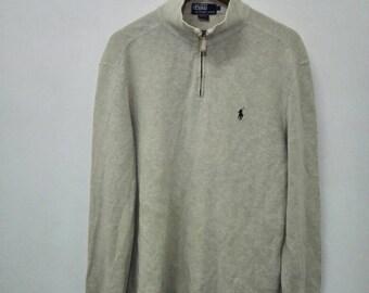 Vintage POLO Ralph Lauren Long Sleeve Shirt Half zip Design
