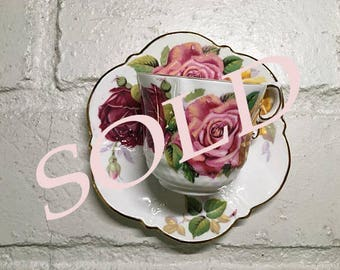 SOLD // Aynsley large rose tea cup