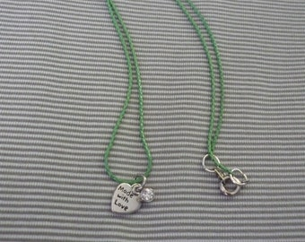 Made with Love green necklace