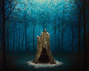 "Dormant (Winter in Waiting) - Original Painting - 12"" x 12"""
